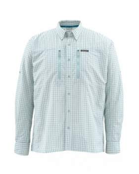 Рубашка Simms Bugstopper LS Shirt, Seafoam Plaid