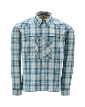 Рубашка Simms Kenai LS Shirt,S, Stell Blue Plaid