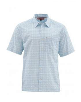 Рубашка Simms Morada SS Shirt, Light Blue Plaid