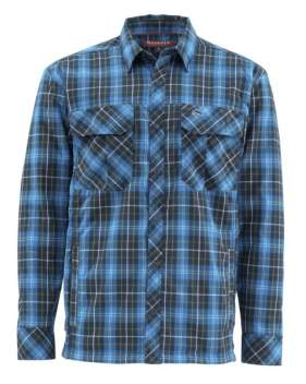Рубашка Simms Guide Insulated Shaket, Admiral Blue Plaid