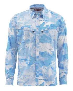 Рубашка Simms Intruder BiComp LS Shirt, Cloud Camo Blue
