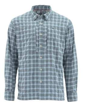 Рубашка Simms BugStopper LS Shirt, Storm Plaid
