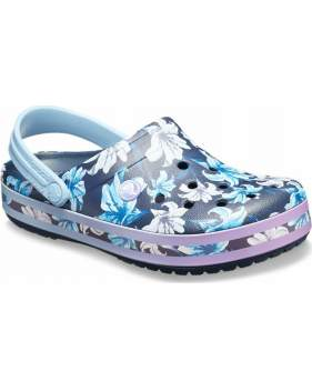 Сабо CROCS Crocband Graphic III Clog Tropical Floral-Navy