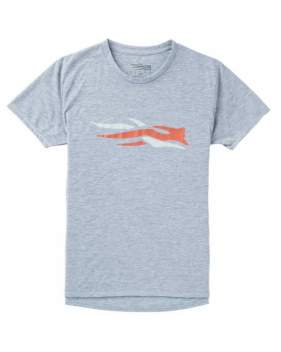 Футболка Sitka Logo Tee SS New, Heather Grey