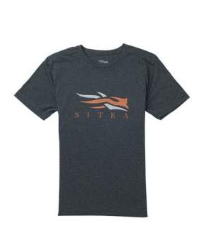 Футболка Sitka Logo Tee SS New, Heather Black