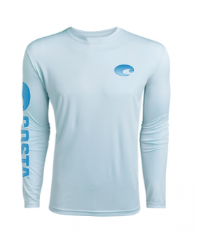 Футболка Costa TECHNICAL CREW LS SHIRT, Arctic Blue
