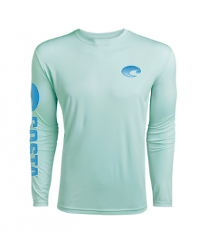 Футболка Costa TECHNICAL CREW LS SHIRT, Mint