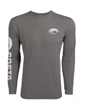 Футболка Costa TECHNICAL CREW LS SHIRT, Gray