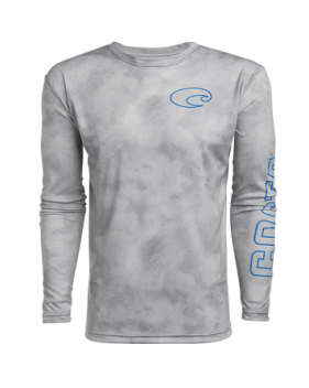 Футболка Costa TECHNICAL TOPOGRAPHIC LS SHIRT, Gray