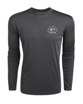 Футболка Costa TECHNICAL TARPON LS SHIRT, Gray