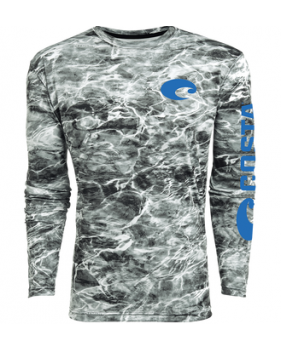 Футболка Costa TECHNICAL MOSSY OAK ELEMENTS LS SHIRT, Camo Gray