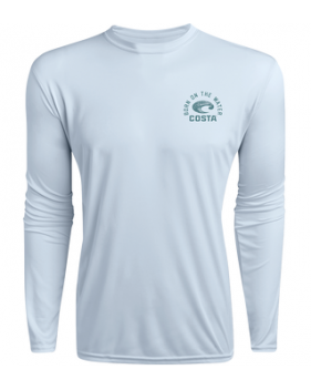 Футболка Costa TECHNICAL DORADO LS SHIRT, Light Blue