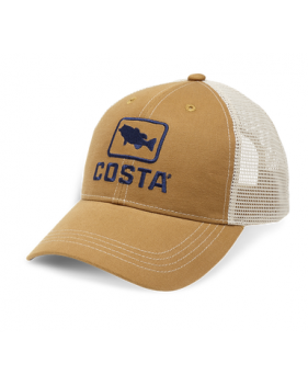Кепка Costa Bass Trucker XL, Working Brown