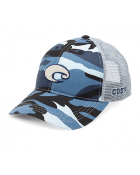 Кепка Costa, XL Logo Camo Trucker, Blue Camo