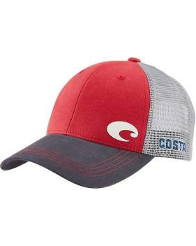 Кепка Costa Offset Logo HD Trucker, Red/Gray
