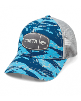 Кепка Costa Tiger Camo Trucker, Blue