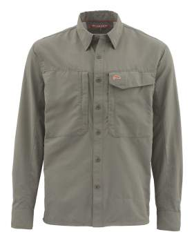 Рубашка Simms Guide LS Shirt - Solid, Olive