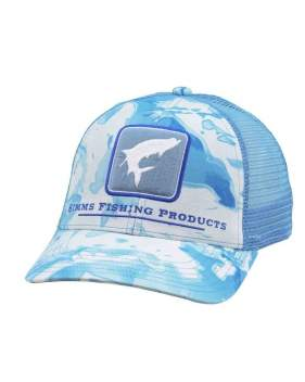 Кепка Simms Tarpon Icon Trucker, Cloud Camo Blue