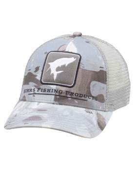 Кепка Simms Tarpon Icon Trucker, Cloud Camo Grey