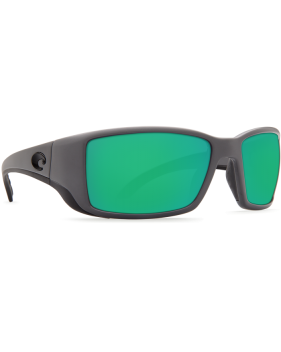 Очки Costa Blackfin Green Mirror 580P, Matte Gray Frame