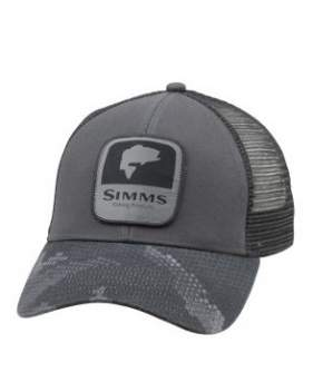 Кепка Simms Bass Patch Trucker, Hex Camo Carbon