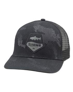 Кепка Simms Trout Patch Trucker, Hex Camo Carbon