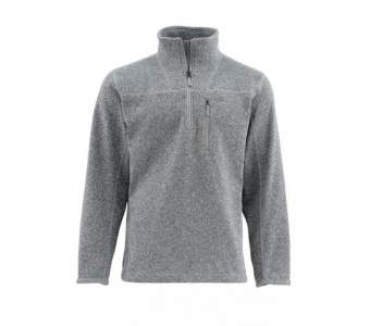 Пуловер Simms Rivershed Sweater Quarter Zip, Smoke