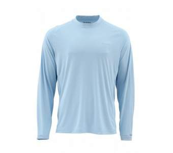 Футболка Simms Solarflex LS Crewneck Solid, Light Blue