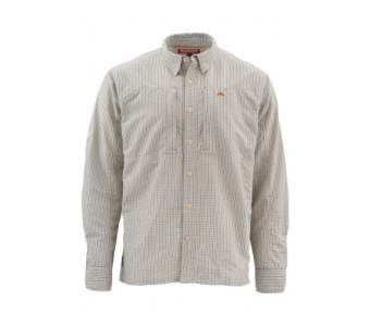 Simms Bugstopper Shirt, Dark Slate Plaid