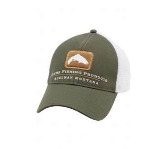 Simms Trout Trucker Cap, Hunter Green