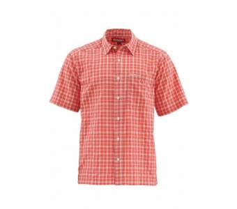 Рубашка Simms Morada SS Shirt, Dark Coral Plaid