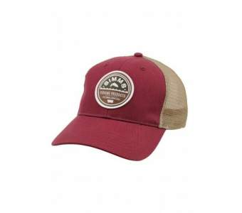 SIMMS Patch Trucker Cap, Malbec