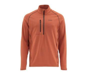 Simms Fleece Midlayer Top, Simms Orange