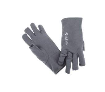 Simms Ultra-Wool Core 3-Finger Liner, Carbon
