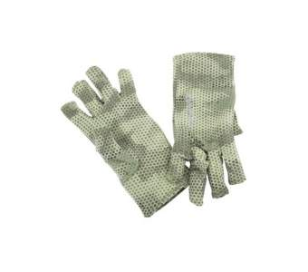 Simms Ultra-Wool Core 3-Finger Liner, Hex Camo Loden
