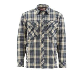 Simms Guide Insulated Shaket, Light Khaki Plaid