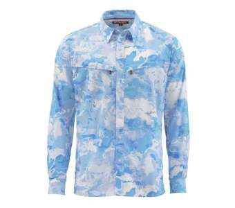 Simms Intruder BiComp LS Shirt, Cloud Camo Blue
