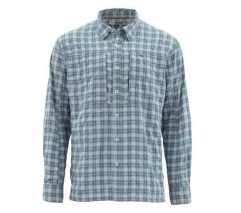 Simms BugStopper LS Shirt, Storm Plaid