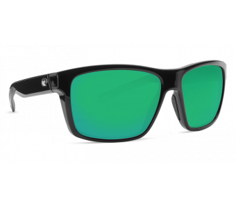 Costa Slack Tide, Green Mirror 580P, Shiny Black Frame