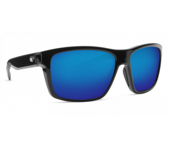 Costa Slack Tide, Blue Mirror 580P, Shiny Black Frame