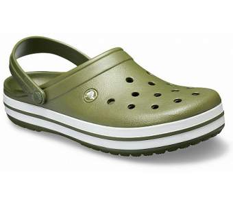 CROCS Crocband Army Green-White