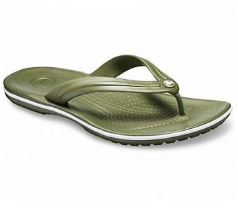 CROCS Crocband Flip Army Green-White