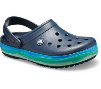 CROCS Crocband Wavy Band Clog Navy-Multi