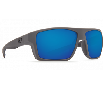 Costa Bloke, Blue Mirror 580P, Matte Gray+Matte Black Frame