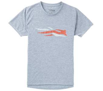 Sitka Logo Tee SS New, Heather Grey