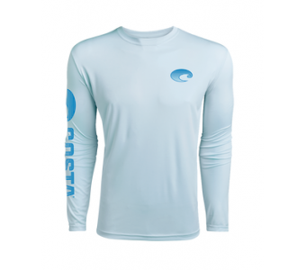 Costa TECHNICAL CREW LS SHIRT, Arctic Blue