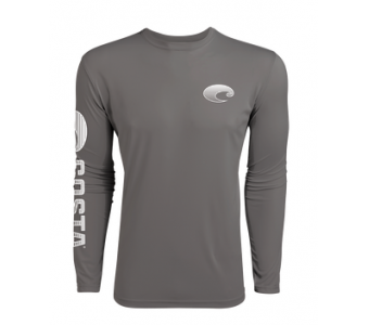 Costa TECHNICAL CREW LS SHIRT, Gray