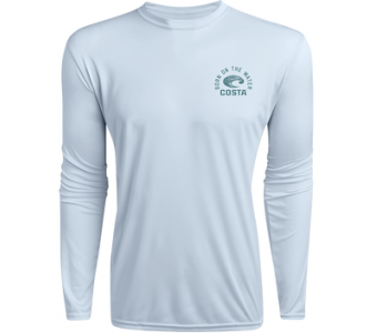 Costa TECHNICAL DORADO LS SHIRT, Light Blue