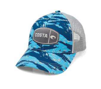 Costa Tiger Camo Trucker, Blue