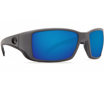 Costa Blackfin Blue Mirror 580P, Matte Gray Frame